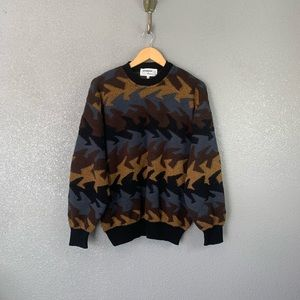 Vintage men's Mondo Di Marco abstract knit sweater
